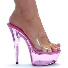 "609-SUMMER 6"" Platform Mule Fushcia Size 7 Ellie Shoes"