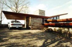 Seamour and Gerte Shavin Residence, Chattanooga, Tennessee. 1950. Frank Lloyd Wright. Usonian Style.