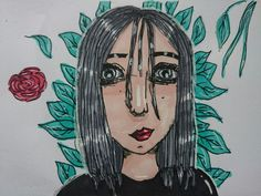 #grey#girl#Rose