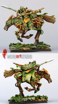 Wood Elf Glade Rider - love the Celtic designs