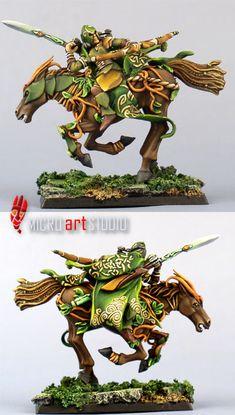 Wood Elf rider for #warhammer