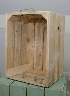 Upcycled Apple Crate Toy Box made from Recycled Pallets. via Etsy.