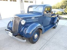 1937 Chevrolet Pickup Classic Pickup for sale in Langley, British Columbia, Saddle Brown, Blue, Vintage Trucks For Sale, Chevy Trucks For Sale, Vintage Pickup Trucks, Classic Pickup Trucks, Antique Trucks, Cool Trucks, Antique Cars, Old Chevy Pickups, Jeep Pickup Truck