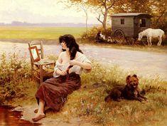 La Gitane a la Toilette by Edouard Debat-Ponsan, 1896