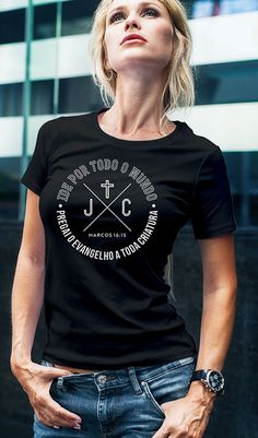 Camiseta Marcos Idee di Tendenza Dessin Creative e Pregai o Evangelho 🍠 Creative T Shirt Design, New T Shirt Design, Shirt Designs, Jesus Clothes, T-shirt Logo, Funny Graphic Tees, Christian Clothing, Girls Tees, T Shirts With Sayings