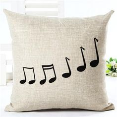 Music Themed Accent Pillows, Music Note