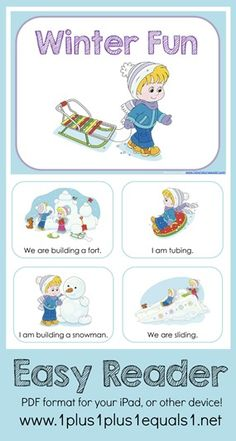 Winter Theme Printables and Ideas - 1+1+1=1