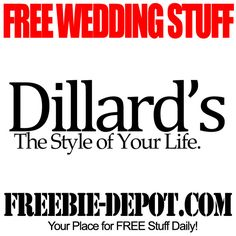 FREE Wedding Stuff - Dillard's - FREE Registry Gifts and more!