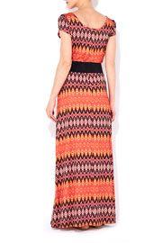 Orange Belted Maxi Dress
