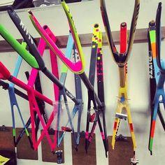 Kleurige fietsframes inspiratie
