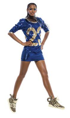 Glitter dress adidas by jeremy scott