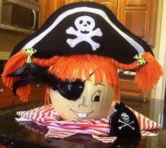 Pippi Longstocking pumpkin!