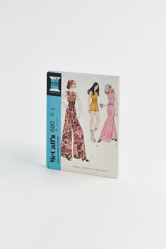 This chic journal is designed for fashion lovers to jot down ideas and be inspired by the mod ladies and patterns of the McCall Pattern Company. The lined interior pages, sewing motifs throughout, and Mccalls Patterns, Thoughtful Gifts, Marker, Tape, Ribbon, Lovers, Journal, Thoughts, Inspired