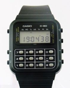 Casio Calculator Watch - for those of us who have spent too much time looking at Drew & noticed his watch