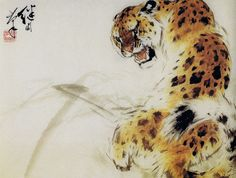 "theskadoosh1: "" Some amazing animal paintings by Chinese artist Liu Jiyou (x) """