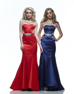 Riva R7483 Sheer Illusion Jeweled Mermaid Prom Dress Evening Gown
