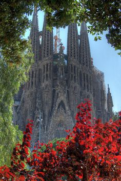 La Sagrada Familia, Barcelona, Spain by To Uncertainty And Beyond Places Around The World, Oh The Places You'll Go, Places To Travel, Places To Visit, Barcelona Travel, Barcelona Spain, Wonderful Places, Beautiful Places, Spanish Heritage
