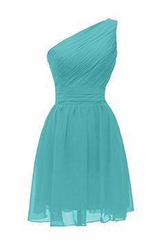 VaniaDress Women One Shoulder Short Bridesmaid Dress Prom Party Gonws V195LF