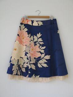 Japanese vintage kimono skirt Etsy.