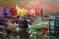 Branko Dimitrijevic, Sunset, Oil on canvas, 20x30cm, £260