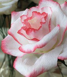 ペーパー バラ  crepepaperflower rose