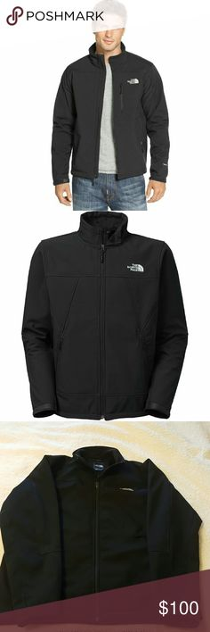 ❄The North Face Mens Jacket - XL ❄The North Face ❄MEN'S APEX CHROMIUM THERMAL JACKET ❄$160.00 + Retail ❄Size XL ❄Solid Black with detail shown in 3rd photo ❄Soft fleece lining inside ❄6 pockets (2 outside & 4 inside) ❄Adjustable velcro at the end of the sleeves (near wrist) ❄I bought this for my husband for his birthday,  but it doesn't fit him ❄ It was worn less than 3 times.  We live in the desert and it's too warm for this type of jacket ❄LIKE NEW ❄No wear/damage ❄Thanks for looking…