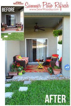 Summer Patio Refresh with @Cost Plus World Market via SewWoodsy.com #SummerFun #Decorating #Outdoor #Patio