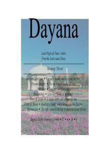 FirstNameStore.com.: Dayana name means divine
