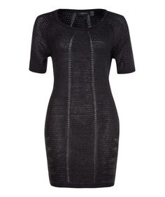 Another great find on #zulily! Black & Charcoal Sweater Dress by Dex #zulilyfinds