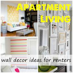 Wall decor ideas for renters from Label Me Organized, no paint or nails necessary!