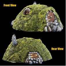 Armorcast Halfling House Pro Painted by Ginfritter Hobbit The Hobbit, Crochet Hats, Christmas Ornaments, Holiday Decor, Crafts, House, Painting, Robots, Resin