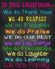 FREE! In this classroom poster or sign. Printable high resolution JPEG file