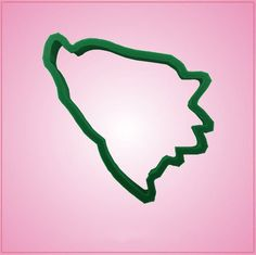 Our Bosnia and Herzegovina cookie cutters are approximately 4 inches by 3 inches, and are made of green plastic. Cleaning instructions: hand wash, towel dry. Buy your Bosnia and Herzegovina cookie cut