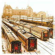 Haydarpaşa Kadıköy train station under snow #İstanbul #kar #snow  http://buypropertyistanbul.com/