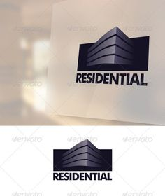 Residential Logo - EPS Template • Only available here ➝ http://graphicriver.net/item/residential-logo-template/1421575?ref=pxcr