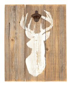 Another great find on #zulily! Reclaimed Wood Stag Bottle Opener Wall Décor by DelHutson Designs #zulilyfinds