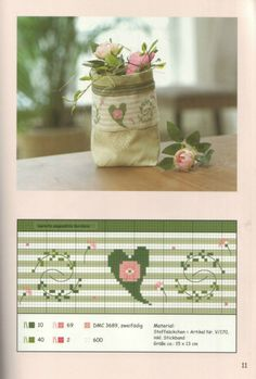 Trendy Ideas for embroidery heart stitch flower Cross Stitch Boarders, Just Cross Stitch, Cross Stitch Needles, Cross Stitch Heart, Cross Stitch Samplers, Cross Stitch Flowers, Cross Stitch Designs, Cross Stitching, Cross Stitch Patterns