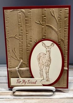 Nature's Beauty Stampin Up (Stamping With Tamie) - Dianora ;)) Nature's Beauty Stampin Up (Stamping Masculine Birthday Cards, Masculine Cards, Fall Cards, Holiday Cards, Winter Cards, Tarjetas Stampin Up, Stampin Up Weihnachten, Simple Christmas Cards, Stamping Up Cards