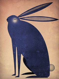 Items similar to The INDIGO RABBIT Graphic Art Illustration archival pigment print Signed on Etsy Art And Illustration, Illustrations, Rabbit Pictures, Raven Art, Kids Art Class, Rabbit Art, Diy Canvas Art, Blue Bunny, Sculpture