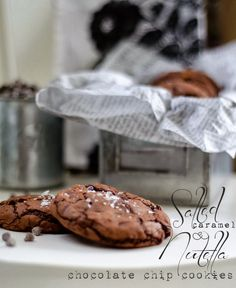 Salted Caramel and Nutella Chocolate Chip Cookies