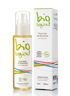 Olej z ogórecznika Bio Logical. Wygładza i leczy: wrażliwą i odwodnioną skórę, łamliwe paznokcie, bardzo suche włosy, zmarszczki, rozstępy, egzemę, łuszczycę, wypadające włosy.