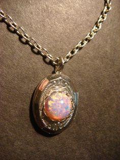 Tiny Fire Opal Locket Necklace -  (545)  OH PLEASE! PLEASE! PLLLLLAAAAAAAEEEEEEEEEESSSSSSEEEEE!!!!!!