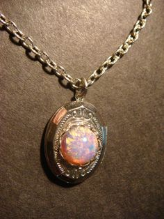 Tiny Fire Opal Locket Necklace -  (545)  OH PLEASE! PLEASE! PLLLLLAAAAAAAEEEEEEEEEESSSSSSEEEEE!!!!!!