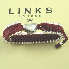 Links of London Friendship heart bracelet red #jewellery