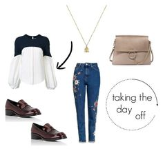 A fashion look from November 2016 featuring white top, high rise jeans and leather shoes. Browse and shop related looks. Day Off, High Rise Jeans, White Tops, Leather Shoes, Prada, Topshop, Fashion Looks, Gucci, Polyvore