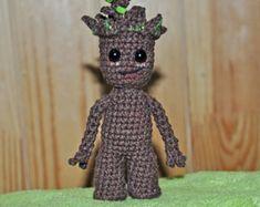 Amigurumi Patterns Groot : Rocket firing raccoon and free baby plant crochet doll amigurumi