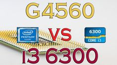 G4560 vs i3 6300 - Benchmark / Gaming Tests Review and Comparison / Kaby...