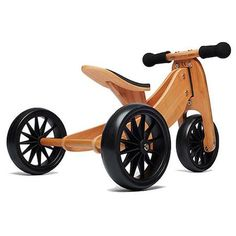 The bamboo Tiny Tot easily converts from a tricycle to a balance bike! The perfect first balance bike for children aged from Wood Bike, Push Bikes, Balance Bike, Kids Bike, Love Car, Wood Toys, Kids Furniture, Baby Car, Crates
