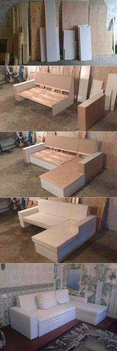 Crate and Pallet DIY Pallet furniture Diy Pallet Furniture, Sofa Furniture, Furniture Makeover, Furniture Design, Building Furniture, Diy Sofa, Canapé Diy, Living Room Sofa Design, Wood Sofa