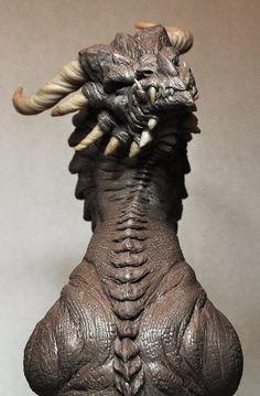 Corruptor Dragon 3 Demon bust Monster Clay by AntWatkins on DeviantArt